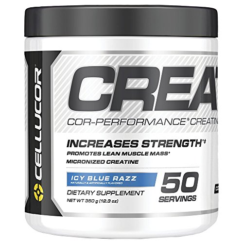 Cellucor Micronized Creatine Monohydrate Powder, COR-Performance Series, Icy Blue Razz, 50 Servings, 12.3 Ounce
