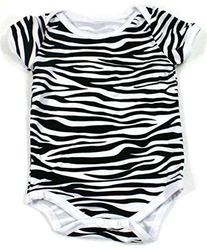 Zebra Print Onesies Chiffon Ruffles (6-12 mths, Zebra Onesie)