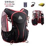 TRIWONDER Hydration Pack Backpack 5L Lightweight Deluxe Marathoner Running Race Hydration Vest (Black (S-M) - Only Vest)