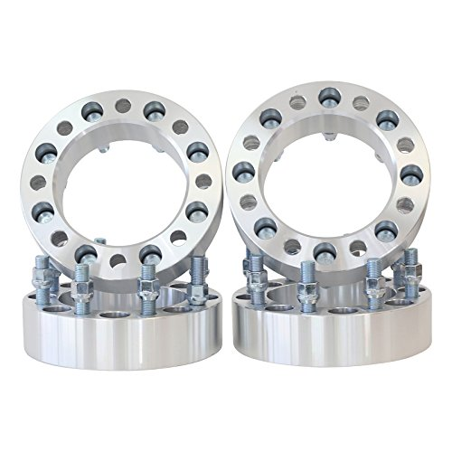 8x170 to 8x170 Thread M14x1.5 - Center Bore 130 MM 1.5'' thick spacer with lug nuts by Smart Parts (Image #2)