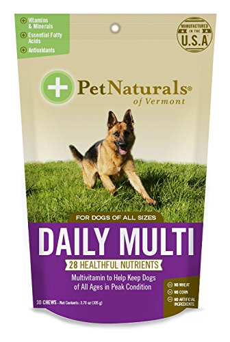 Pet Naturals of Vermont - Daily Multi for Dogs, Multivitamin Formula, 30 Bite-Sized Chews