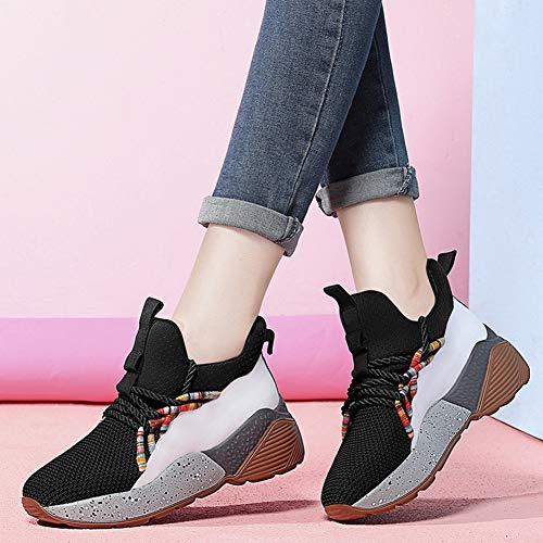 Sneakers yanjing Un 37 colore 2018 Da Designer Scarpe Vulcanizzate Casual Pelle He Un Dimensione Passeggio Donna X4dUxw