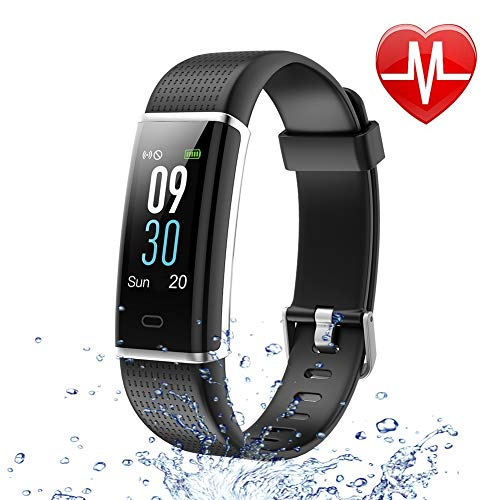 Letsfit Fitness Tracker Color Screen, Heart Rate Monitor Wat