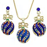 SoulBreeze Happy Colorful Christmas Tree Ornaments Earrings Hoop Dangle Drop Style