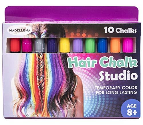 Birthday Gift for Girls - Hair Chalk For Girls, Hair Chalk, Temporary Hair Color, Temporary Hair Dye, Hair Chalk for Kids, Hair Dye for Kids, Temporary Hair Color for Kids - 80 Applications per pen