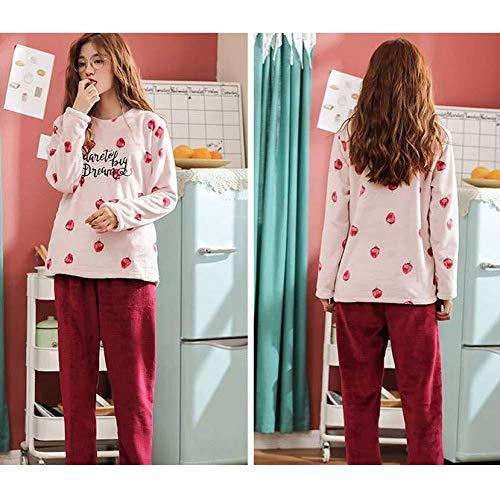 Di E Plus sweet Cute Inverno In ispessimento Cartoon Donne Delle Pigiama Velluto Autunno Home Service Gz Corallo Velluto F Set Flanella wtqS0gFP