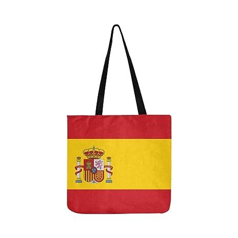 Alta Bandera Detallada de España Lienzo Tote Bolso Bolsa de ...