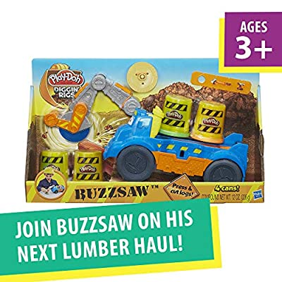 Play-Doh Buzzsaw Logging Truck Toy with 4 Non-Toxic Colors, 3-Ounce Cans: Toys & Games