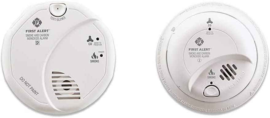 First Alert Smoke Detector and Carbon Monoxide Detector Alarm | Battery Operated, SCO5CN & BRK SC9120B Hardwired Smoke Detector and Carbon Monoxide (CO) Detector with Battery Backup