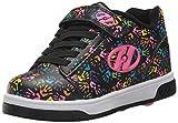 Heelys Girls' Dual up X2 Sneaker, Black/Multi/Hands, 4 Medium US Little Kid