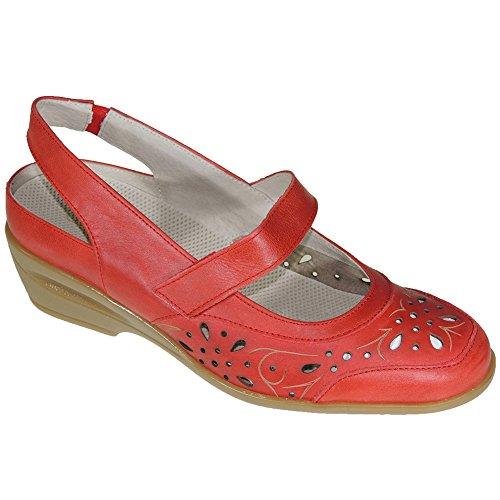 Comodona Mujer Coper Modelo Rojo Sandalia para Extraible con 105716 Planta HqR7nRZ1