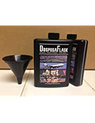 DisposaFlask 250 Pack 80 Per Bonus 25 Free Funnels Included Plastic Alcohol Flask
