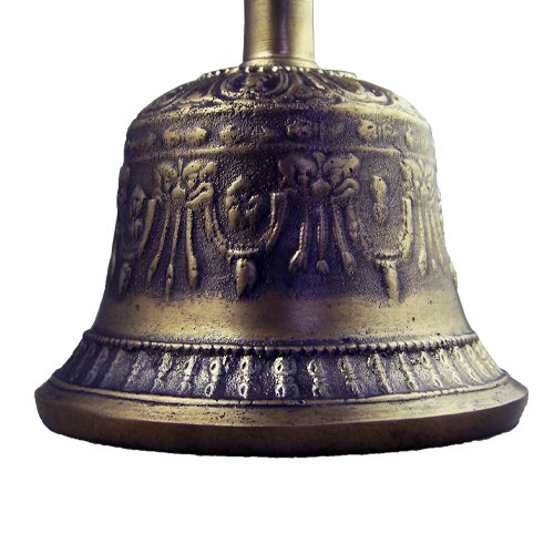 Tibetische Glocke 13 Cm Im Set Mit Dorje & Hülle Handarbeit Nepal Asiatika: Indien & Himalaya Ghanta