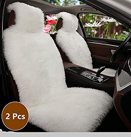 2018For 2 Front Car Seat Covers Faux Fur Cute Interior Accessories Cushion Cover Styling Winter