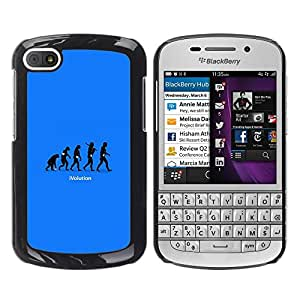 Impact Case Cover with Art Pattern Designs FOR BlackBerry Q10 cool funny ivolution evolution technology Betty shop