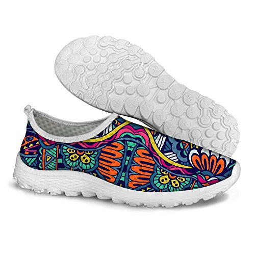 FOR U DESIGNS Retro Ethnic Style Women's Lightweight Mesh Tennis Running Shoes Size 8