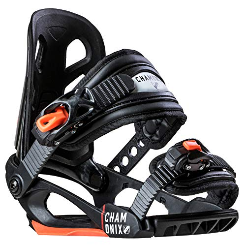 Chamonix Cheval Jr Kids Snowboard Bindings Black Sz S ()