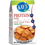 Kay's Naturals Protein Chips, Chili Nacho Cheese, Gluten-Free, Low Sugar, 5 Ounce (Pack of 6)