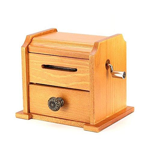 【最安値】 B01F8KC8RE DIYDIY hand-crankedヴィンテージ音楽ボックス木製キャビネットwith穴Puncherとペーパー B01F8KC8RE, 河浦町:09587e0e --- arcego.dominiotemporario.com