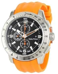 Nautica Men's N17568G NST 101 Orange Resin and Black Dial Watch