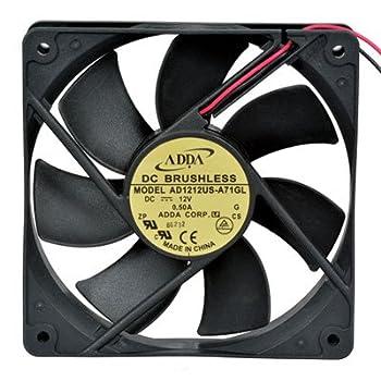 "Adda AD1212US-A71GL-LF Fan, Brushless Tubeaxial, 12 VDC, 99.12 CFM, 12"" Leads, 120 mm W x 120 mm H x 25 mm D"