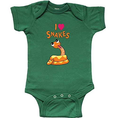 inktastic - I Love Snakes Infant Creeper 6 Months Kelly Green 27e58
