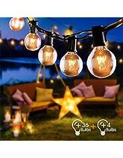 Cadena de Luces Fochea Guirnalda Luminosa, Lámpara de Ambiente para Decoración Interior y Exterior para Jardín Patio Dormitorio Fiesta Navidad Bodas