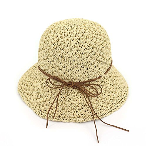 Straw Hat Lady Outdoors Beach Sun Cap Women Travelling Beautiful Bucket Hats