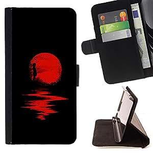 /Skull Market/ - HALLOWEEN DARK REFLECTION RED MOON For Sony Xperia Z1 L39 - Caja de la carpeta del tir???¡¯???€????€????????&ce