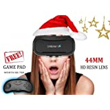 DREAM VR - Wireless Virtual Reality Headset - 44mm HD lens - With Bluetooth Controller Gamepad