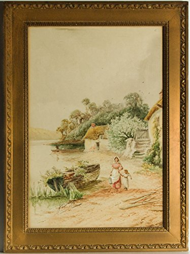 Sulis Fine Art J. Barclay (Horace Hammond) - Signed c.1900 Watercolour, Walking by a River