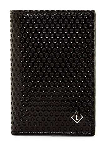 a.testoni Men's Nido Ape Calf Leather Business Card Case Wallet, OS, Nero by a.testoni