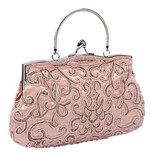 Wedding EPLAZA Purse Bridal Evening Bags Party Women handbag Beaded H Clutch rWH6Yr
