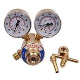 BETOOLL Welding Gas Welder Oxygen Regulator Gauges Oxy for Victor Torch Cutting Kits CGA 540