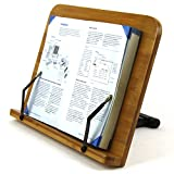 Bamboo Kitchen Cook Book Document Stands Holders for Reading in Bed Hands Free
