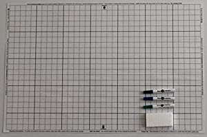 Amazon Com Battle Grid Game Mat Dry Erase White 24 Quot X