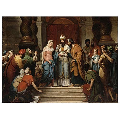 GREATBIGCANVAS Poster Print Entitled The Marriage of The Virgin, 1833 by Jerome Martin Langlois 24