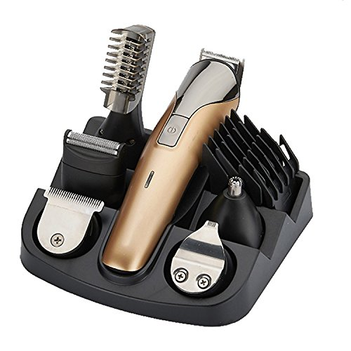 Price comparison product image Electric Hair Clippers Set Nose Ear Beard Eyebrow and Sideburn Mustache Trimmer Shaver Grooming Kit with Trimming Attachments Rechargeable Cordless Barber Hair Cutter Machine