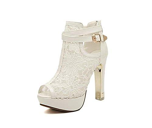 LATH.PIN Scarpe con Cinturino Alla Caviglia Donna Bianco Bianco 39