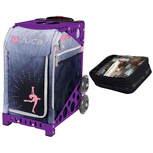 Zuca Ice Dreamz Lux Sport Insert Bag & Purple Frame + Gift Utility Pouch by ZUCA