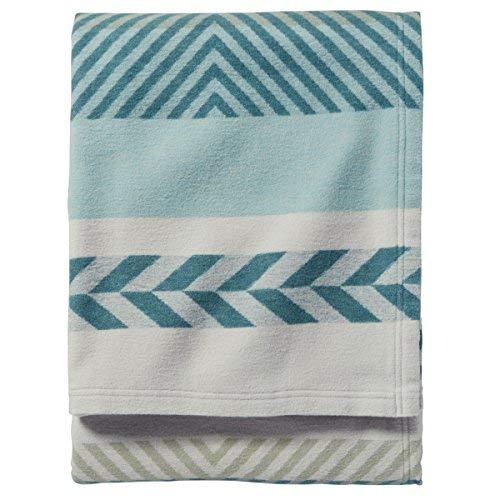 Pendleton Organic Mojave Twill Sky Blanket, Queen (Cotton Blanket Pendleton)