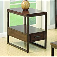 Coaster Home Furnishings 901680 Chairside Table, NULL, Light Brown