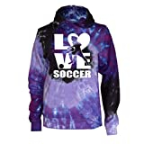 Varsity Girl Soccer Tie Dye Sweatshirt - Soccer Player Logo