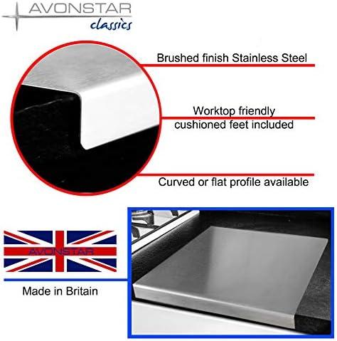 Plateau de travail en acier inoxydable avec bord carr/é plat ou rond pour voir toutes les tailles 600 x 450 mm pli/é