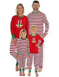 Christmas Family Matching Red Striped Elf Pajama PJ Sets