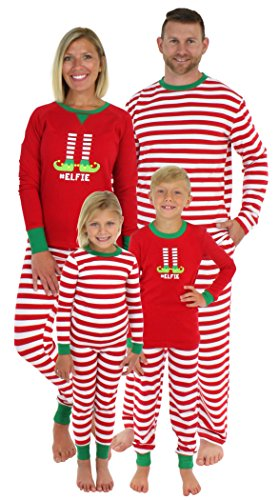 Sleepyheads Christmas Family Matching Red Striped Elf Pajama PJ Sets - Kids (SHM-5013-K-STRIPE-2T)