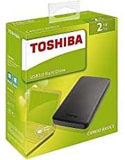 Toshiba 2TB Canvio Basics Portable External HDD 2.5 inch USB 3.0 - Black - (HDTB420EK3AA)