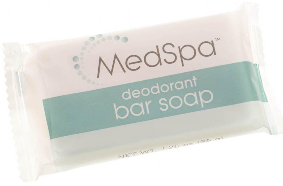 Medline MPH18215 MedSpa Deodorant Bar Soap, 1.25 oz (Pack of 400) by Medline