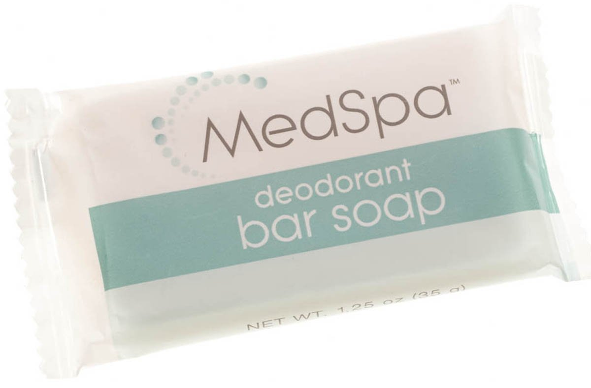 Medline MPH18215 MedSpa Deodorant Bar Soap, 1.25 oz (Pack of 400)