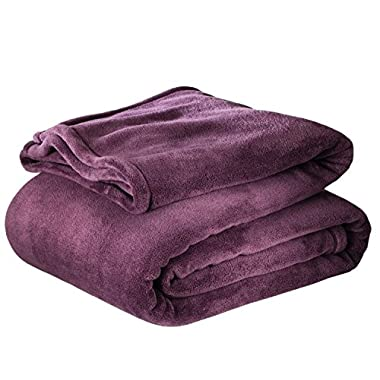 Threshold Microplush Blanket for Full/Queen in Desert Purple